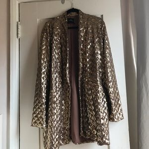 Urban Outfitters Gold Sequin Jacket